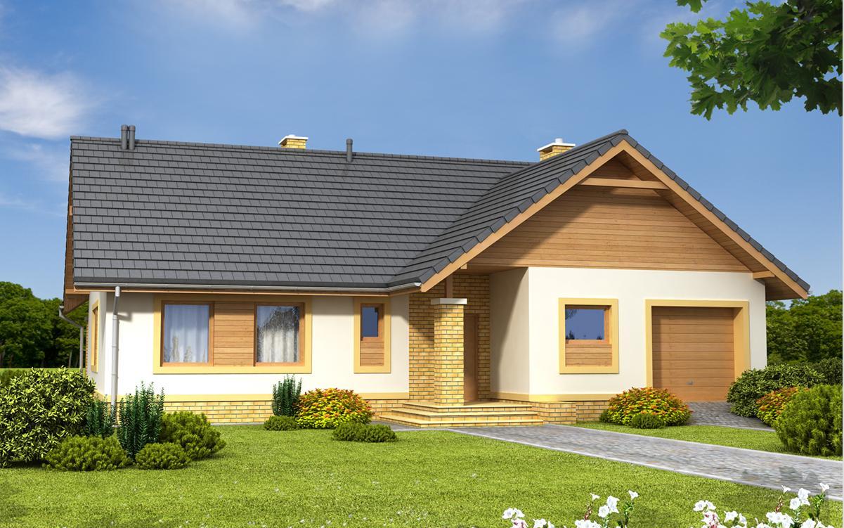 projekt domu SEZAM 4 widok od frontu