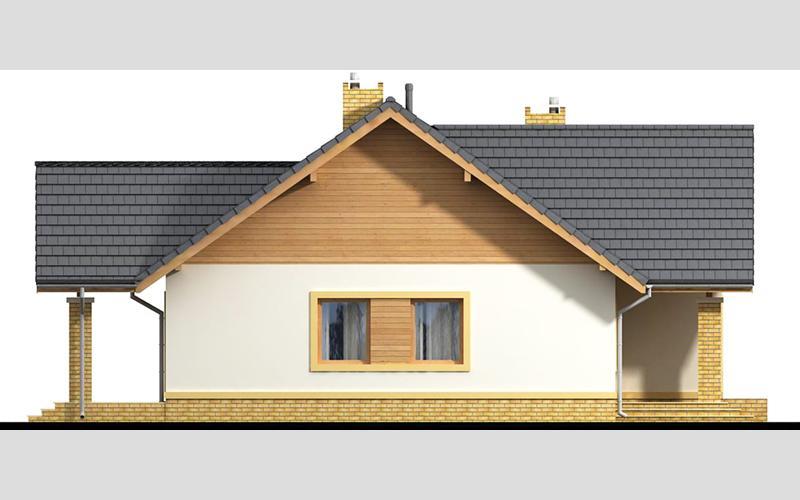 projekt domu SEZAM 4 elewacja lewa