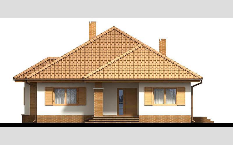 projekt domu SZAFRAN PS el frontowa