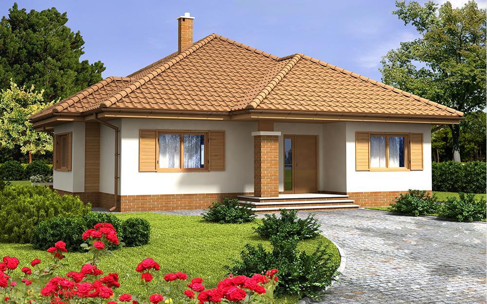 projekt domu SZAFRAN PS widok od frontu
