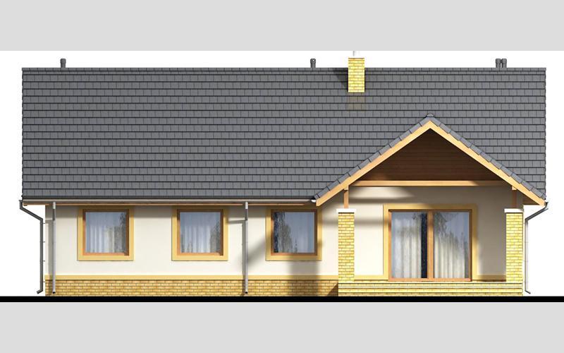 projekt domu SEZAM 4 elewacja ogrodowa