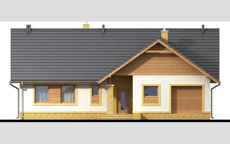 projekt domu SEZAM 4 elewacja frontowa